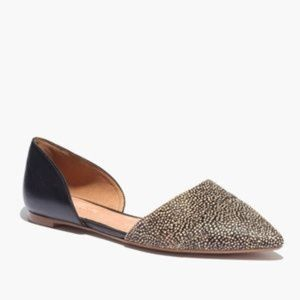 Madewell d'Orsay Flat in Dotted Calf Hair